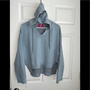One teaspoon raw hem oversized hoodie